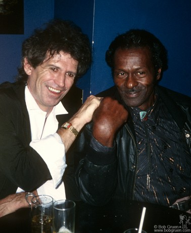 Keith Richards & Chuck Berry, NYC - 1987