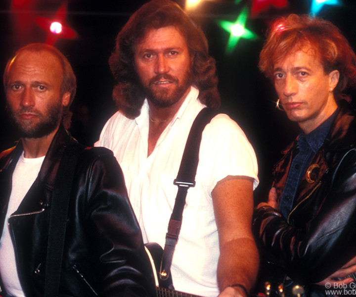 Bee Gees, Miami, FL. November 1988. <P>Image #: C-180  © Bob Gruen