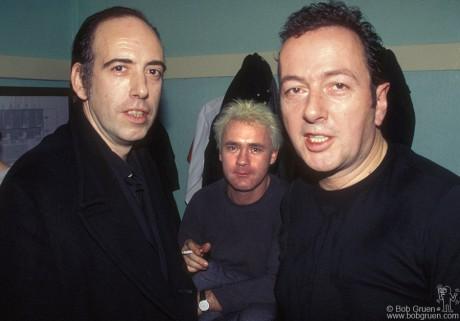 Mick Jones, Damien Hirst & Joe Strummer, London - 2000