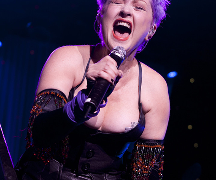 Cyndi Lauper, Radio City Music Hall, NYC. June 18, 2007. <P>Image #: C-211  © Bob Gruen