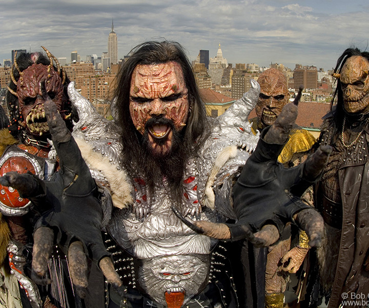 Lordi, Westbeth Studio, NYC. May 4, 2007. <P>Image #: C-260  © Bob Gruen