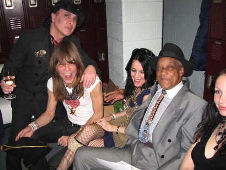 Syl Sylvain, David Johansen, Mara Hennesey & Hubert Sumlin, NYC - 2006