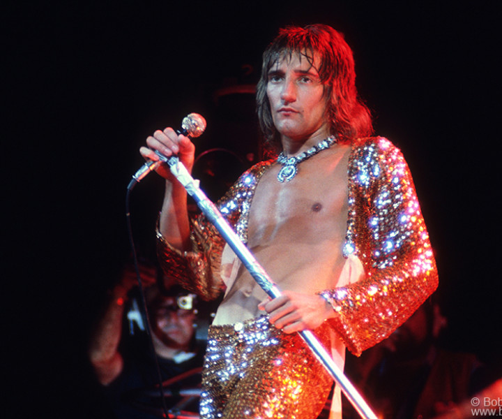 Rod Stewart, MSG, NYC. September 11, 1972. <P>Image #: C-278  © Bob Gruen