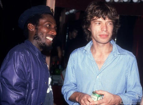 Jimmy Cliff & Mick Jagger, NYC - 1981