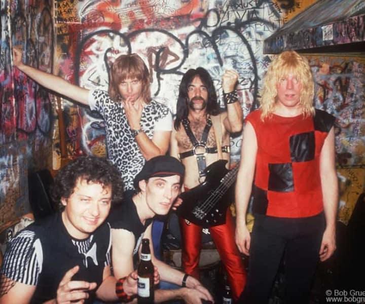 Spinal Tap, CBGB, NYC. May 6, 1984. <P>Image #: C-306 © Bob Gruen