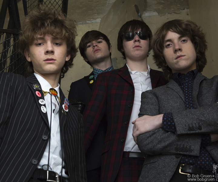 Strypes, Westbeth building, NYC. March 17, 2014. <P>Image #: C-323 © Bob Gruen