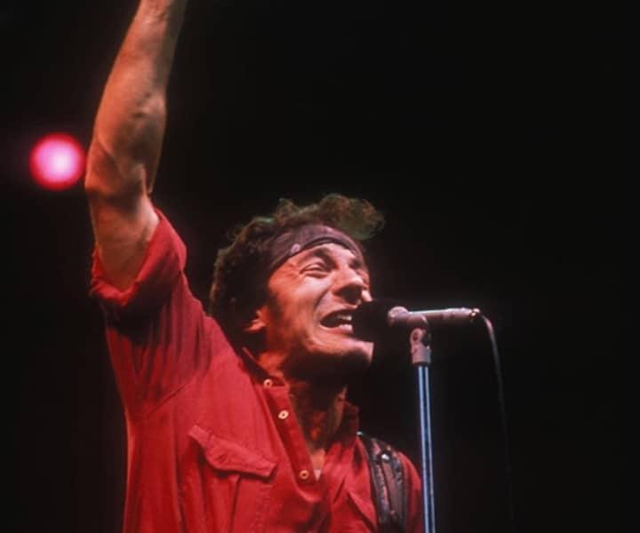 Bruce Springsteen, Exhibition Stadium Grandstand, Toronto. July 1984. <P>Image #: C-37  © Bob Gruen