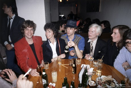 David Johansen, Susan Blonde, Bob Geldof & Andy Warhol, NYC - 1979