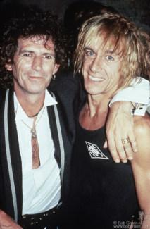 Keith Richards and Iggy Pop, NYC - 1988