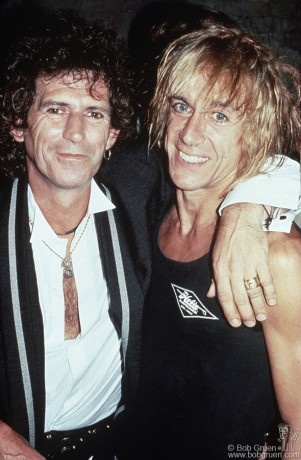 Keith Richards & Iggy Pop, NYC - 1988