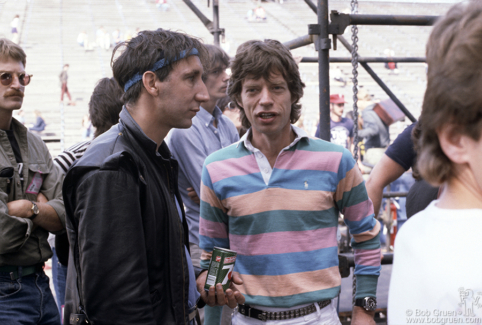 Pete Townshend and Mick Jagger, Philadelphia - 1982