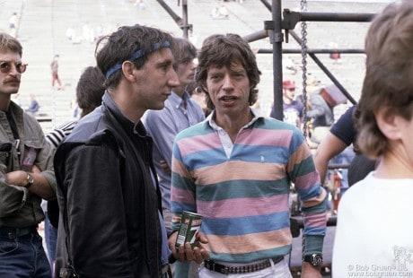 Pete Townshend & Mick Jagger, PA - 1982