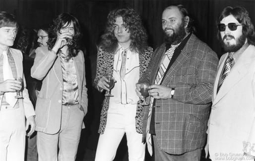 John Paul Jones, Jimmy Page, Robert Plant, Peter Grant and John Bonham, NYC - 1974