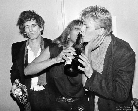 Keith Richards, Tina Turner and David Bowie, NYC - 1983