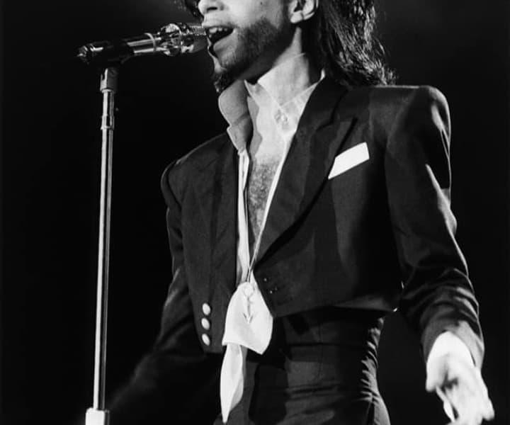Prince, Rio de Janeiro, Brazil. January 18, 1991. <P>Image #: R-215  © Bob Gruen