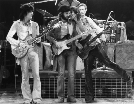 Ronnie Wood, Eric Clapton, Keith Richards & Charlie Watts, NYC - 1975