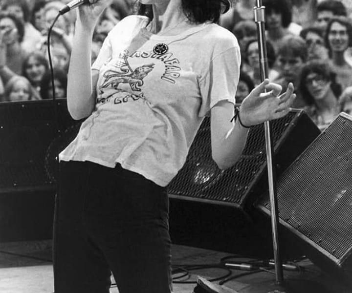 Patti Smith, Central Park, NYC. July 9, 1976. <P>Image #: R-225  © Bob Gruen