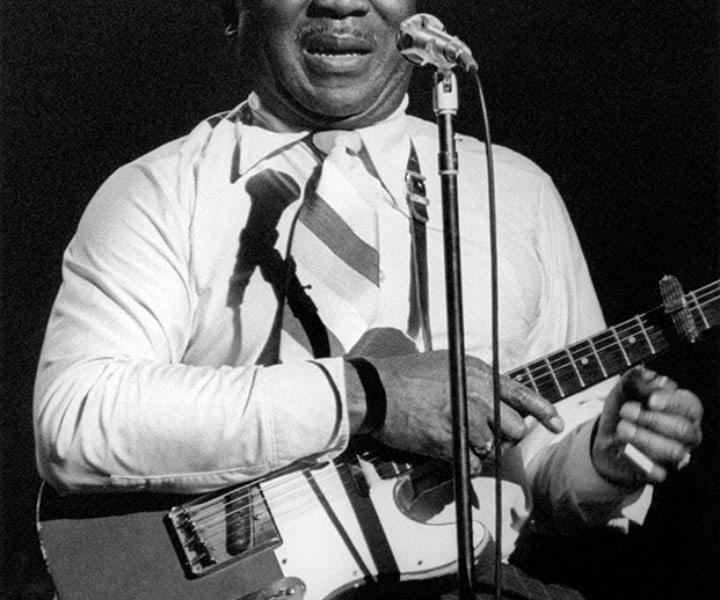 Muddy Waters, Palladium, NYC. March 4, 1977. <P>Image #: R-243  © Bob Gruen