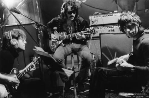 """John Lennon, Wayne """"Tex"""" Gabriel and Mick Jagger, NYC - 1972"""