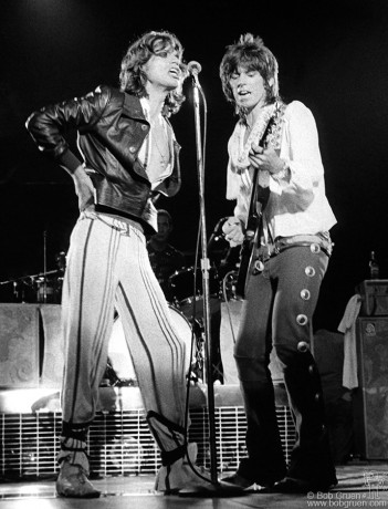 Mick Jagger & Keith Richards, LA -1975