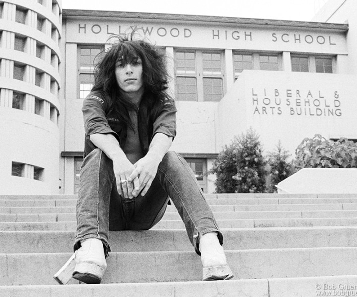 Johnny Thunders, Los Angeles, CA. September 1973. <P>Image #: R-359  © Bob Gruen