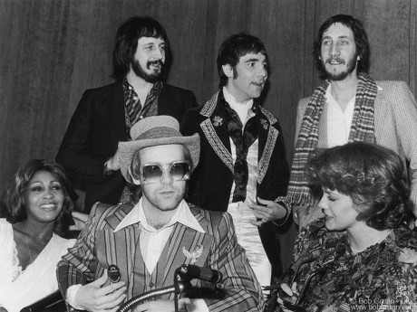 John Entwistle, Keith Moon, Pete Townshend, Tina Turner, Elton John & Ann Margret, NYC - 1975