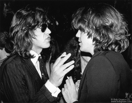 Mick Jagger & David Johansen, NYC - 1976