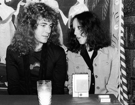 Robert Plant & Lisa Robinson, NYC - 1976