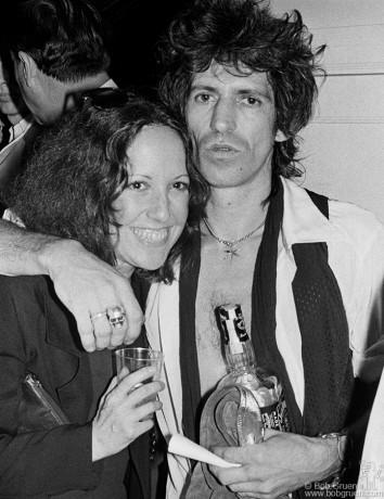 Lisa Robinson & Keith Richards, NYC - 1980