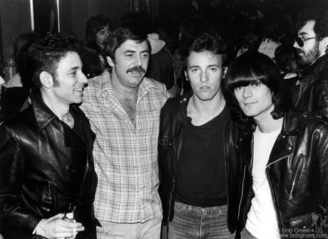Robert Gordon, Tommy Dean, Bruce Springsteen & Dee Dee Ramone, NYC - 1977