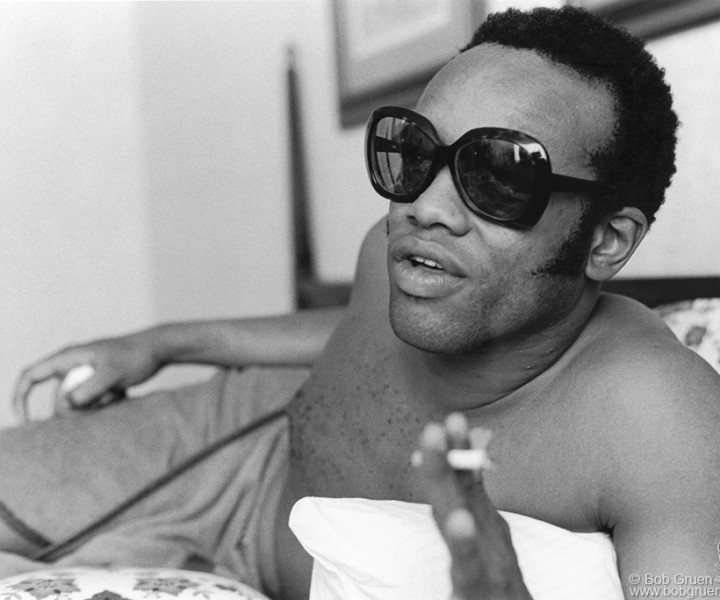 Bobby Womack, Macon, GA. July 1972. <P>Image #: R-487  © Bob Gruen