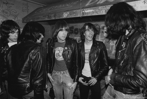 Ramones and Legs McNeil, NYC - 1979