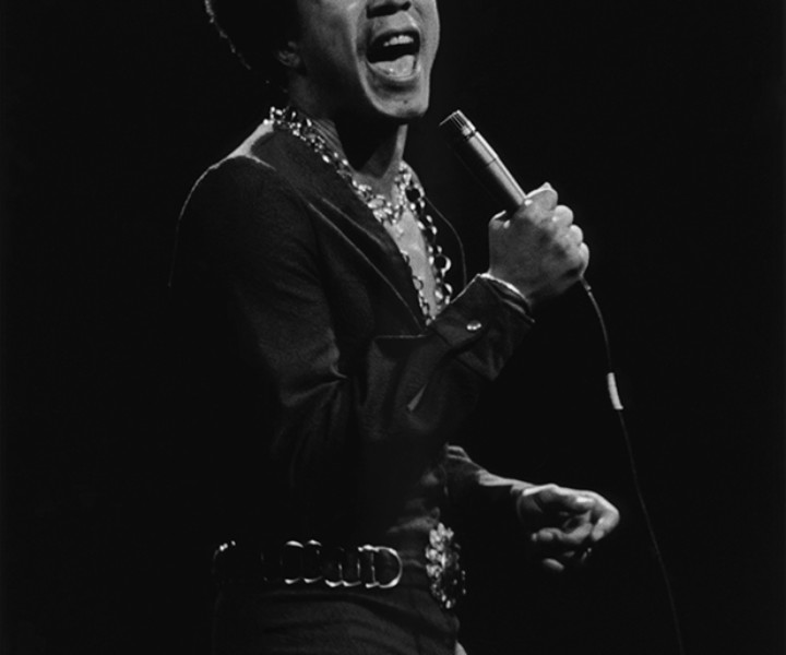 Smokey Robinson, MSG, NYC. June 23, 1972. <P>Image #: R-523 © Bob Gruen