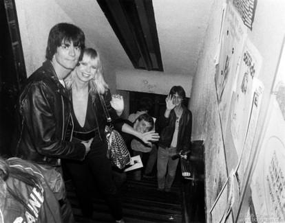 Dee Dee Ramone, Vera Ramone, Richard Robinson & Lenny Kaye, NYC - 1979