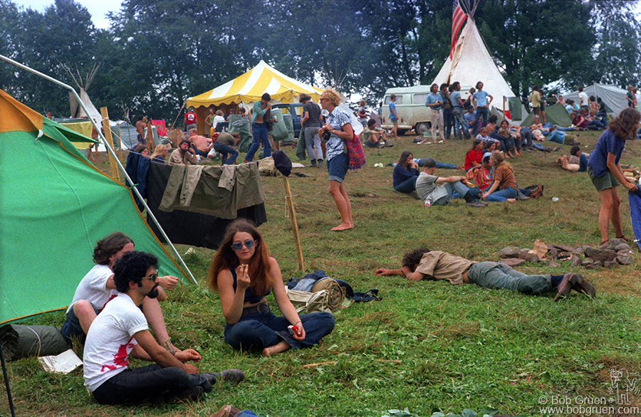 Our campsite at the Woodstock Festival.