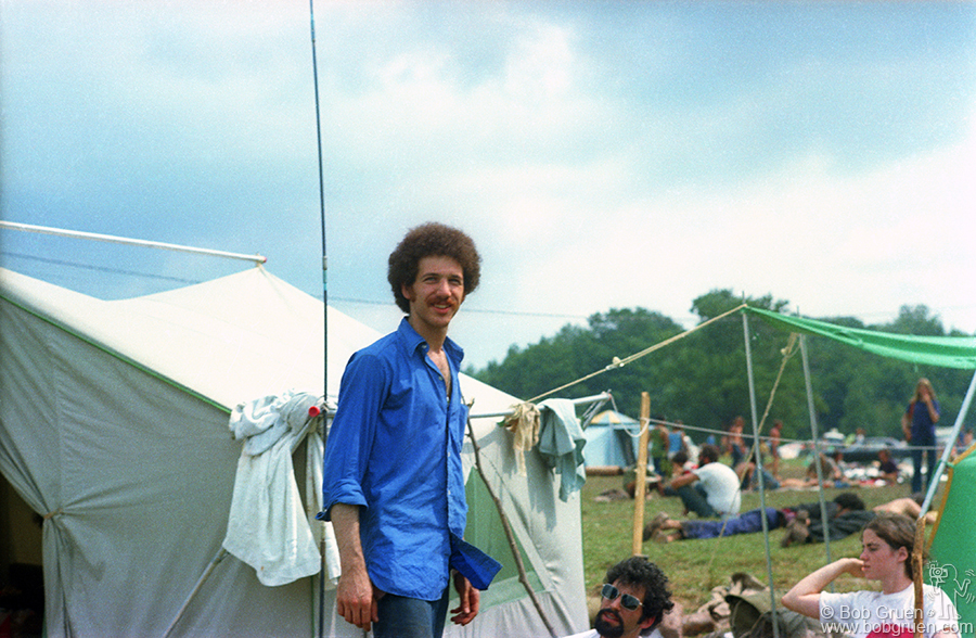 Bob Gruen at The Woodstock Festival in 1969.