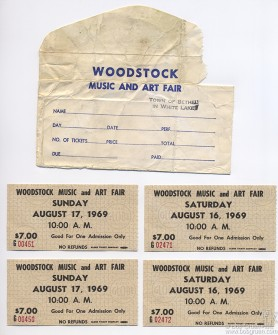 My original set of Woodstock tickets.