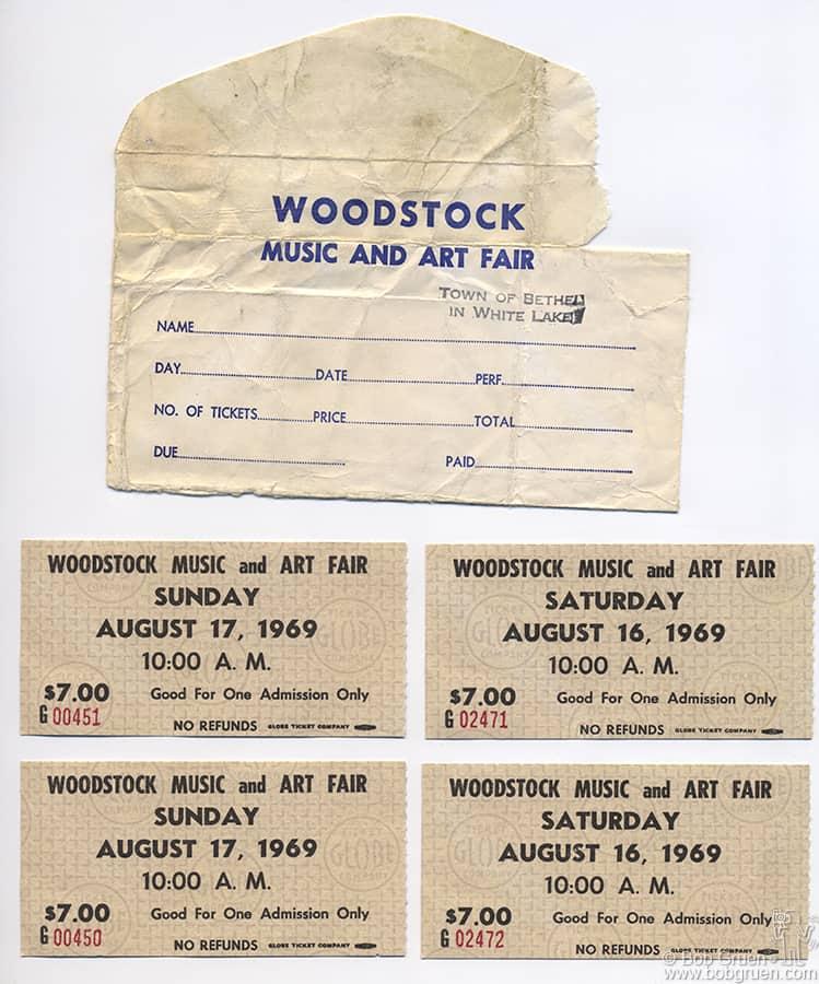 My original set of Woodstock tickets.