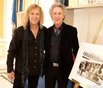 Feb. 11 - Piano player and playwrite David Bryan celebrated his 50th birthday at the Essex House, where I gave him a print of my Led Zeppelin photo. He said the photo inspired him to become a rock star.