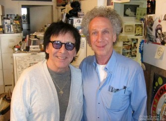 March 29 - New York City - Original Kiss drummer Peter Criss stopped by my studio to choose photos for his upcoming biography.
