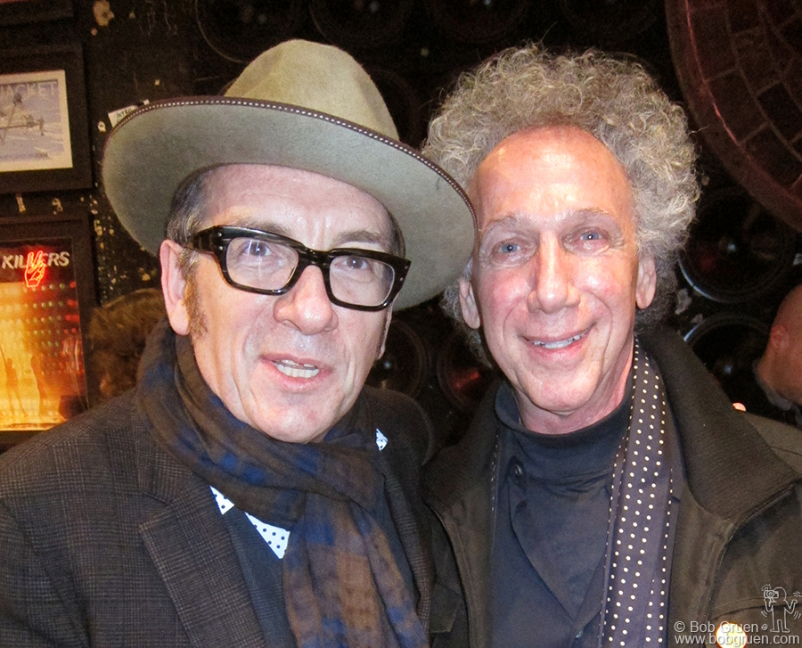 March 29 - NYC - Elvis Costello came to the Johnny Ramone book release party too.