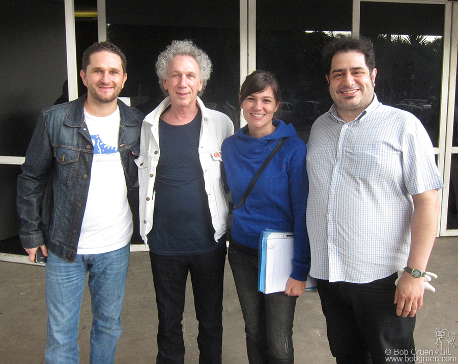 April 1 - Sao Paulo - At the Oca building in Parque do Ibirapuera, in Sao Paulo, where my photos were part of the exhibition 'Let's Rock' produced by Hey Ho Entertainment director Rogerio Effori, Nathia Nicolau (who made sure all the details were taken care of), and curator Jose Antonio Algodoal.