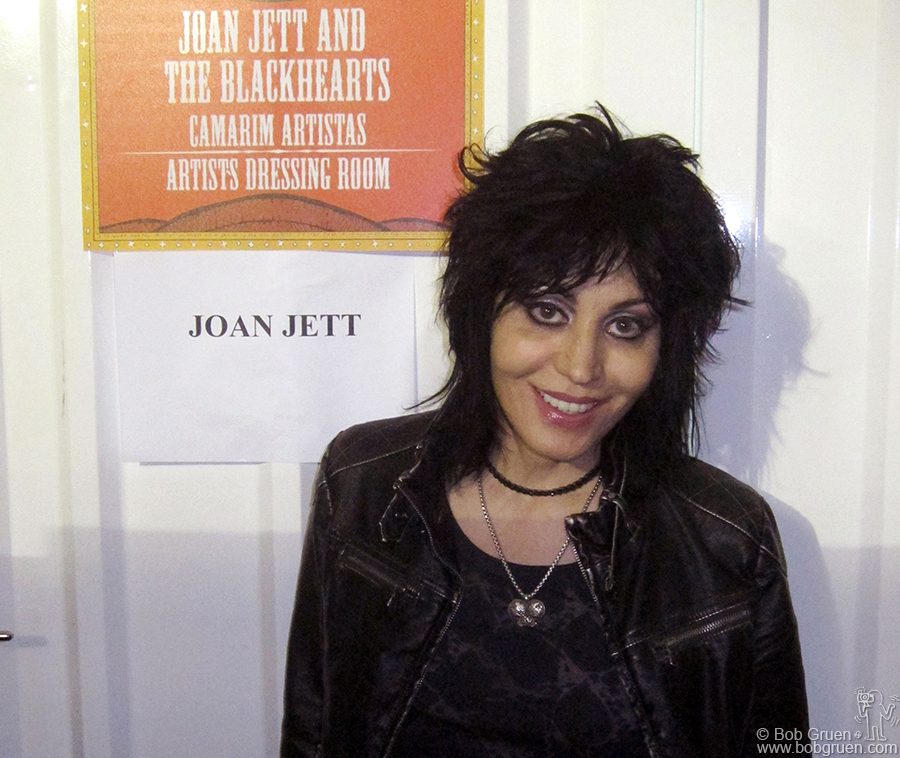 April 7 - Sao Paulo - Joan Jett was playing at the Lolapalooza festival so I got to see her. It was the first time Joan played in Brazil and the fans loved her.