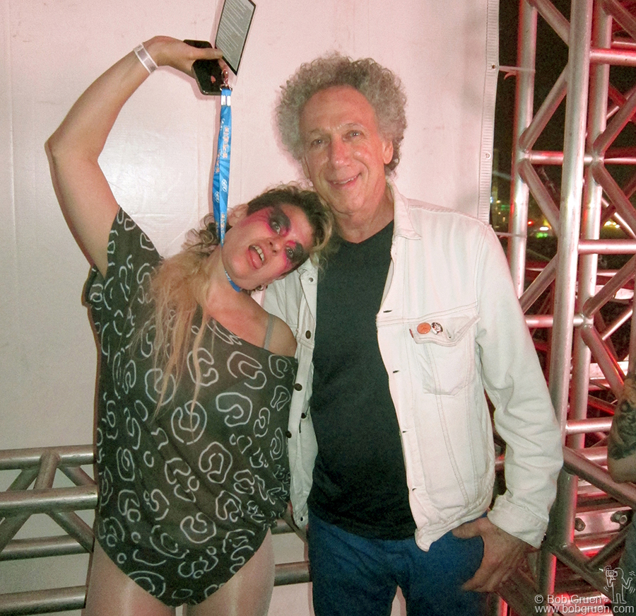 April 7- Sao Paulo - At the Joan Jett show I met the very amusing singer Peaches.