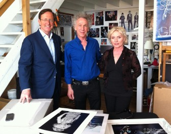 April 20 - New York City - Anthony Mason interviewed me and Debbie Harry in my studio for a CBS Sunday Morning TV show.