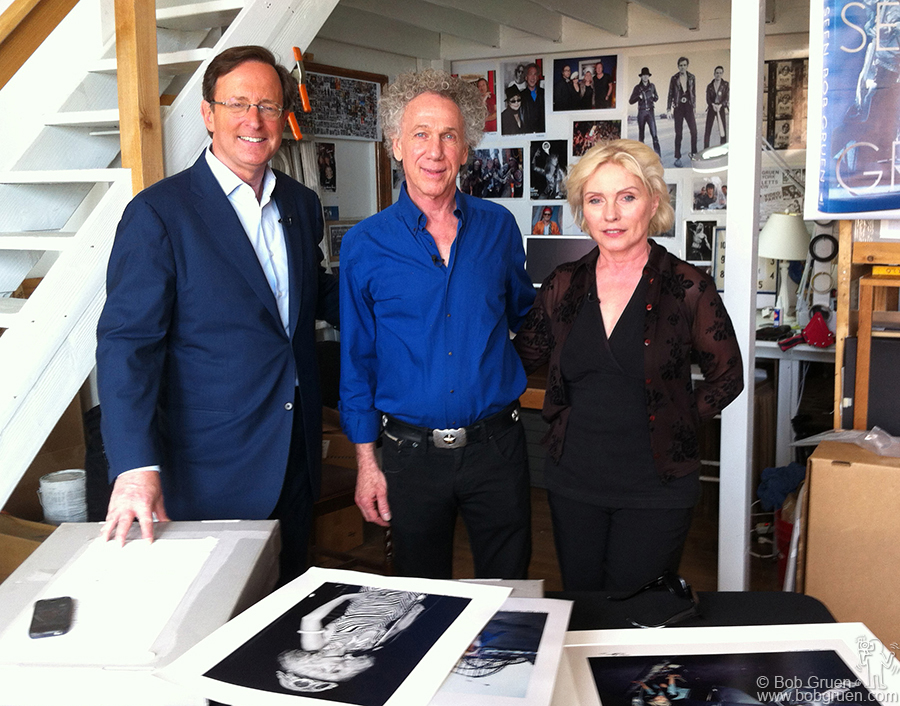 April 20 - NYC - Anthony Mason interviewed me and Debbie Harry in my studio for a CBS Sunday Morning TV show.