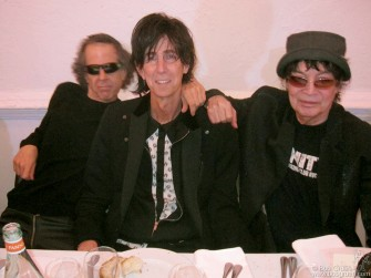 May 5 - Marty Rev and Ric Ocasek with Alan Vega at the Annual Friends of Artists Space Dinner honoring Alan this year for his artistic achievements.