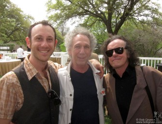March 17- SXSW - My son Kris and I met folk legend Donovan at the BMI breakfast.