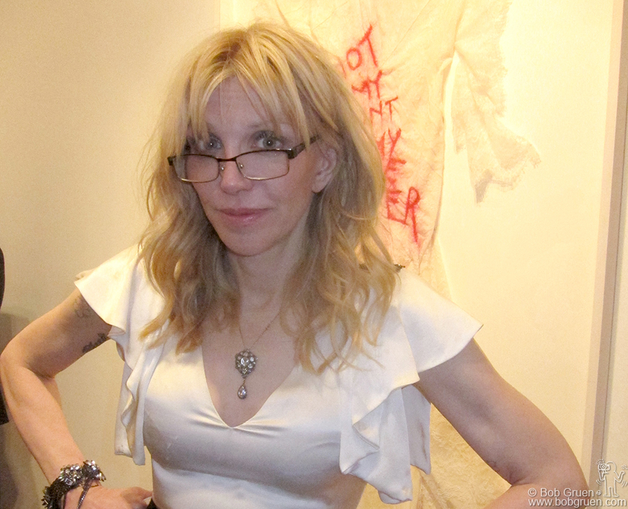 May 2 - NYC - Courtney Love showed her paintings at Fred Torres Collaborations gallery in Chelsea.