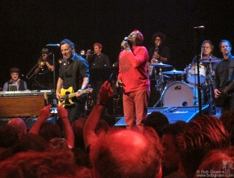 March 15 - SXSW - Bruce Springsteen played a surprise show that featured a guest apperance by Reggae star Jimmy Cliff at the Browser Theater.